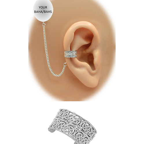 """""""Intricate Filigree""""14K White Gold Ear Cuff (For BAHAS) by HearClip"""