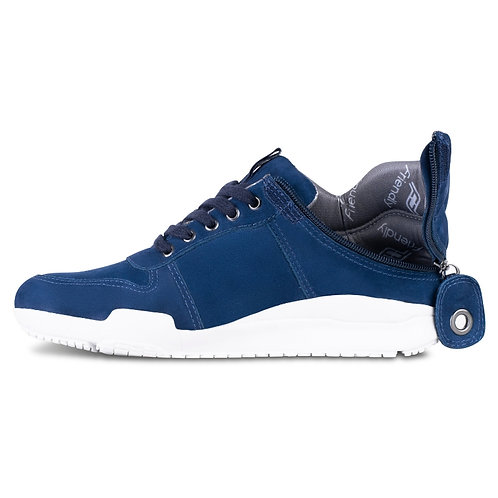 Men's Medimoto Blue Suede Shoe by Friendly Shoes