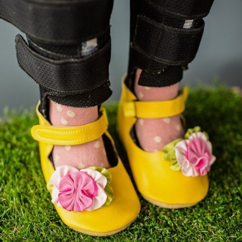 Happiness Grows Mary Jane by Shoes for AFO's by Gracious May