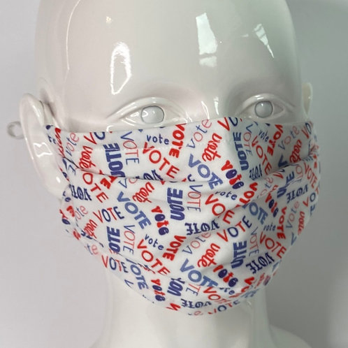 Vote Face Mask with Pocket for Filter by Crafty MerMade