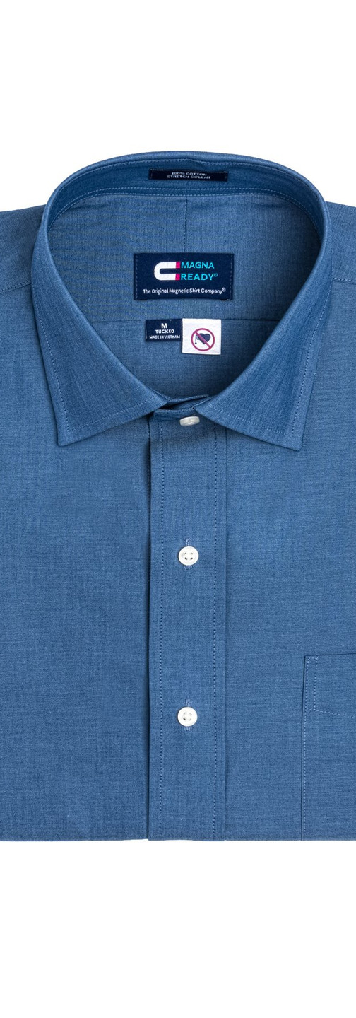 Blue Chambray Magnetic Closures