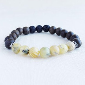 Yellow Opal Essential Oil Diffuser Bracelet by Essential Adornment