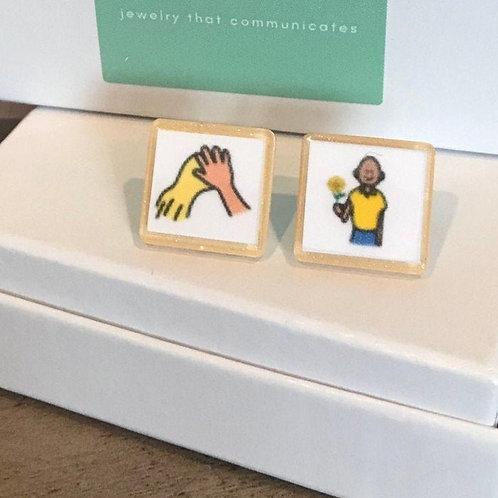 Spread + Kindness Boardmarker Earrings by Marley Caroline