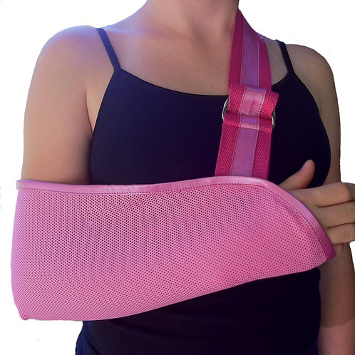 Pretty in Pink Kids Arm Sling by Not Blue Designs