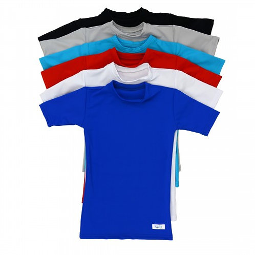 Plain + Simple Compression Short Sleeve Shirts by Kozie Clothes