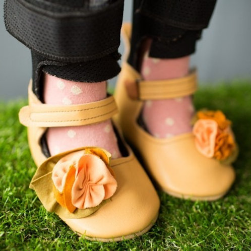 Persimmon Bouquet Mary Jane by Shoes for AFO's by Gracious May
