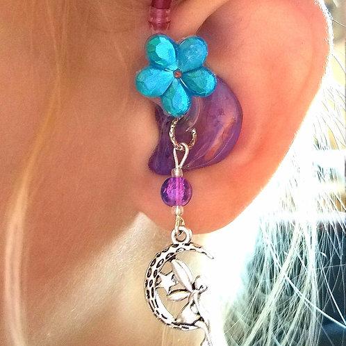 Moon Fairies Hearing Aid Charms + Flower Tube Trinkets by Purple Cat Aid Charms