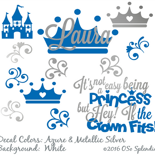 Personalized Princess Cranial Band Decals by OSo Splendid