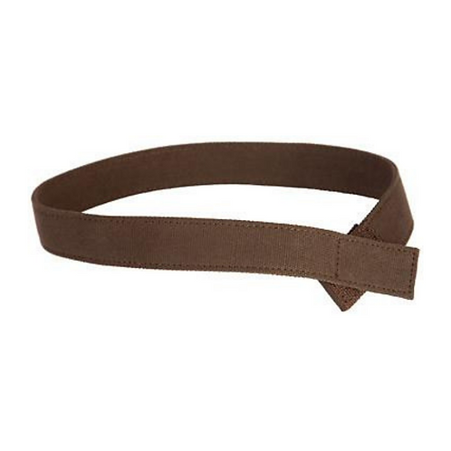 Solid Brown Canvas Velcro Belt by Myself Belts