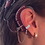 "Thumbnail: ""Intricate Filigree""14K White Gold Ear Cuff (For Cochlear Implants) by HearClip"
