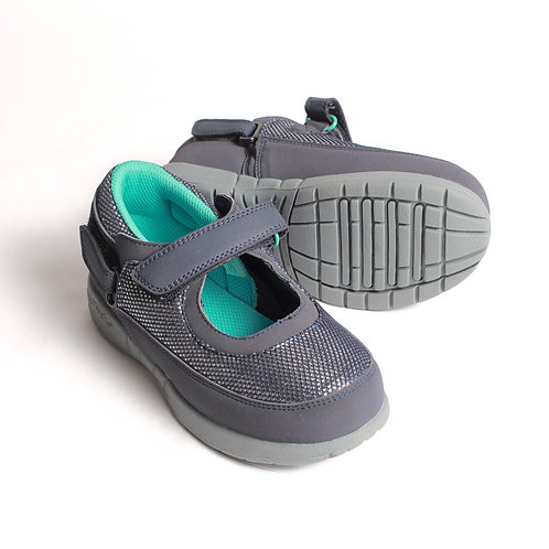 Ava Shoe - Navy/Silver/Teal Mary Janes by Hatchbacks