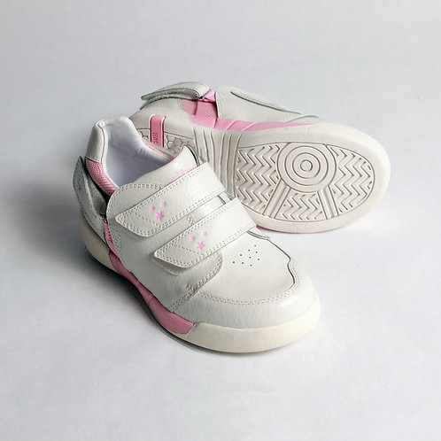 Aspire Kids Shoe - White/Light Pink by Hatchbacks