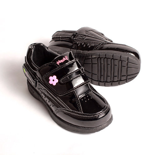 Freestyle Kids Shoes - Patent Black/Pink by Hatchbacks