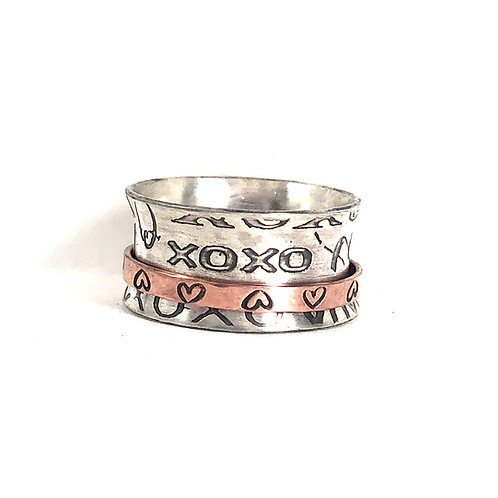 Love Spinner Fidget Ring by Tula Stone Jewelry