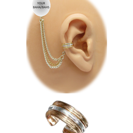 """""""3 Band"""" Ear Cuff (For BAHA) by HearClip"""