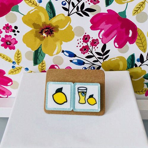 Lemon + Lemonade Boardmaker Earrings by Marley Caroline