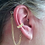 """Thumbnail: """"CZ Band"""" 14K Yellow Gold Ear Cuff (For Hearing Aids) by HearClip"""