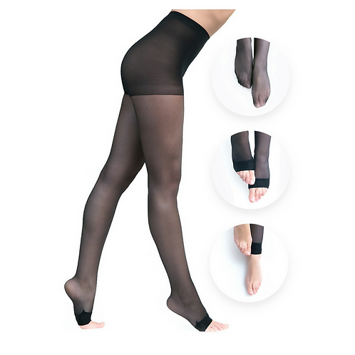 Convertibles Pantyhose Double Black Pack by Glogover Hosiery