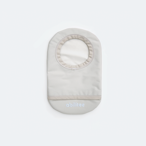 Light Gray Ostomy Cover by Abilitee Adaptive Wear