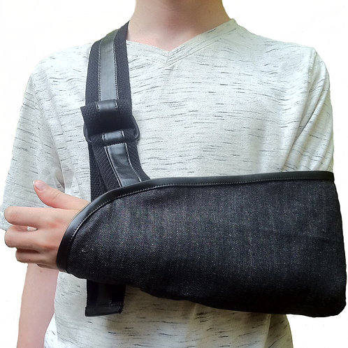 Durable Denim Kids Arm Sling by Not Blue Designs