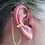 "Thumbnail: ""Greek"" 14K Yellow Gold Ear Cuff (For Hearing Aids) by HearClip"