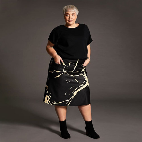 'Kintsugi' A-Line Skirt with Pockets and Velcro Fastening by Kintsugi