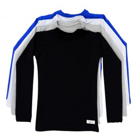 Plain + Simple Compression Long Sleeve Shirts by Kozie Clothes