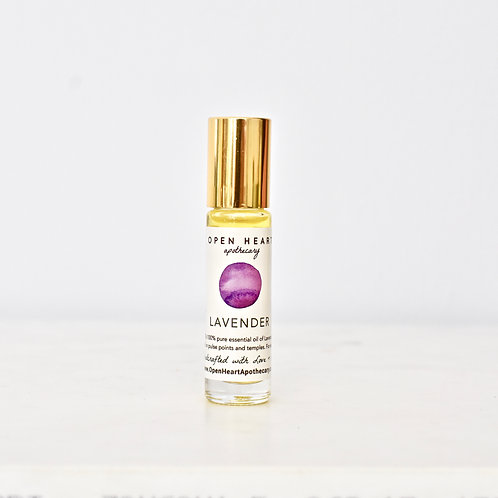 Lavender Essential Oil Roll On by Open Heart Apothecary