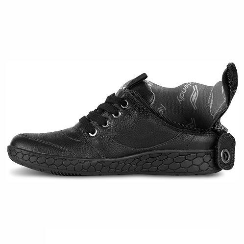 Women's Medimoto Black Leather Shoe by Friendly Shoes
