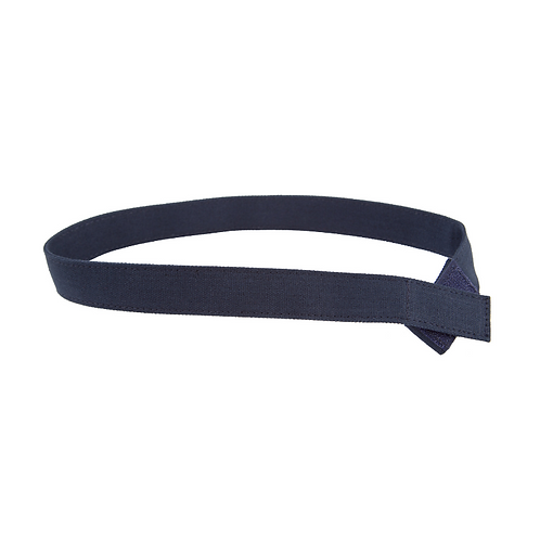 Navy Solid Canvas Velcro Belt by Myself Belts