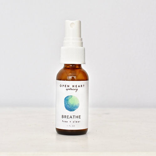 Breathe Essential Oil Spritzer by Open Heart Apothecary
