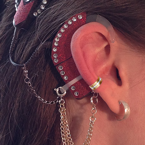 """""""3 Band"""" Ear Cuff (For For Cochlear Implants) by HearClip"""