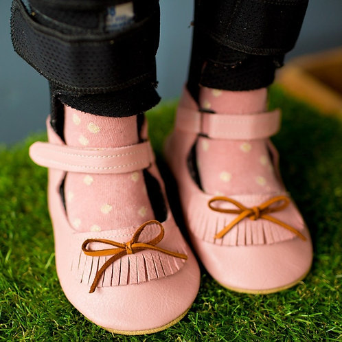 Blush Pink Moxie Jane by Shoes for AFO's by Gracious May