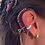 """Thumbnail: """"CZ Band"""" 14K White Gold Ear Cuff (For Cochlear Implants) by HearClip"""