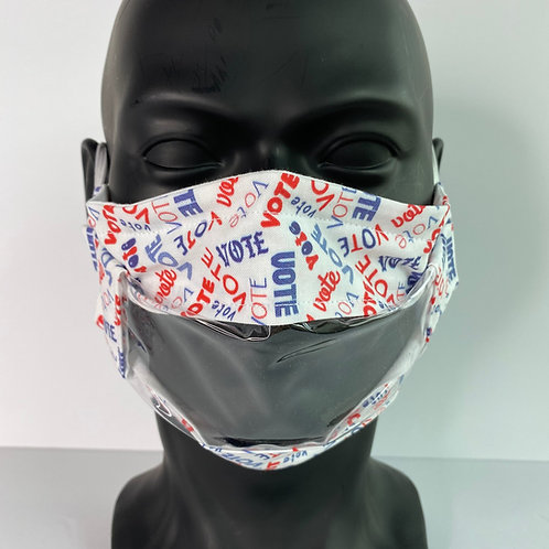 Window Face Mask with Vote Design by Crafty MerMade
