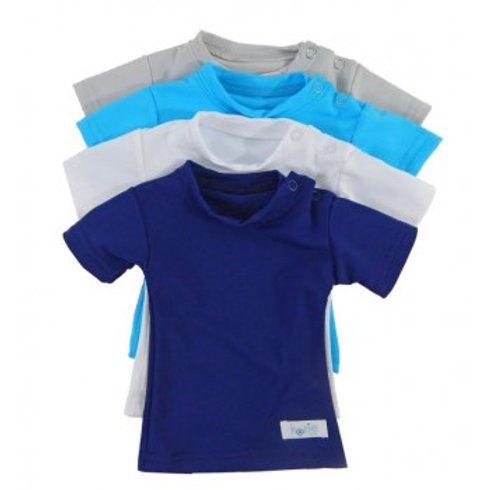 Baby Plain + Simple Sensory Compression Short Sleeve Shirt by Kozie Clothes