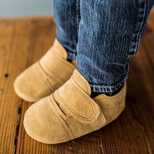 Sandbox Beige Suede Sneakers by Shoes for AFO's by Gracious May