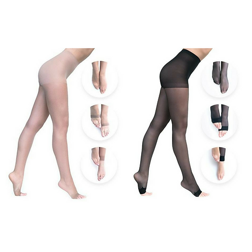 Convertibles Pantyhose Double Combo Pack: Nude + Black by Glogover Hosiery
