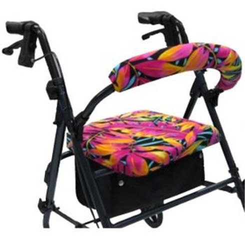 Hawaiian Tropical Leaves Rollator Walker Covers Set by Crutcheze