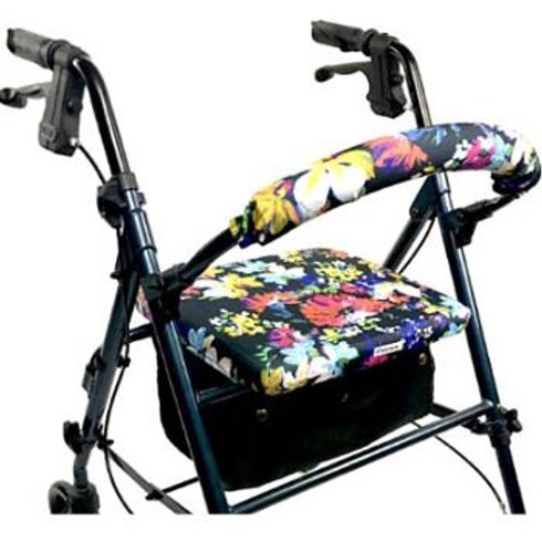 Painted Flowers Rollator Walker Covers Set by Crutcheze