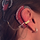 """Thumbnail: """"Greek"""" 14K Yellow Gold Ear Cuff (For Cochlear Implants) by HearClip"""