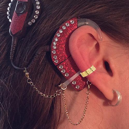 """Greek"" 14K Yellow Gold Ear Cuff (For Cochlear Implants) by HearClip"