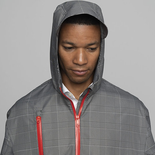 Electric Houndstooth Rain Cape by Cleverhood