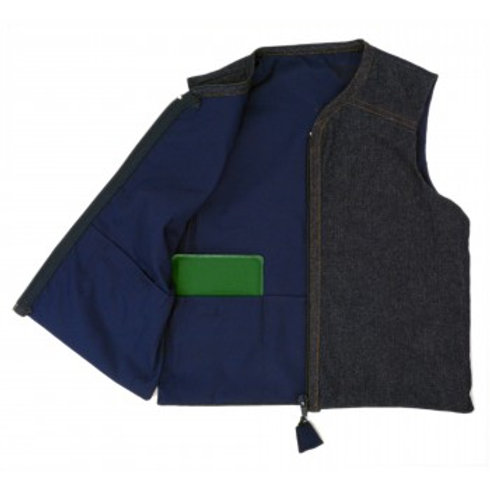 Signature Denim Weighted Vest by Kozie Clothes