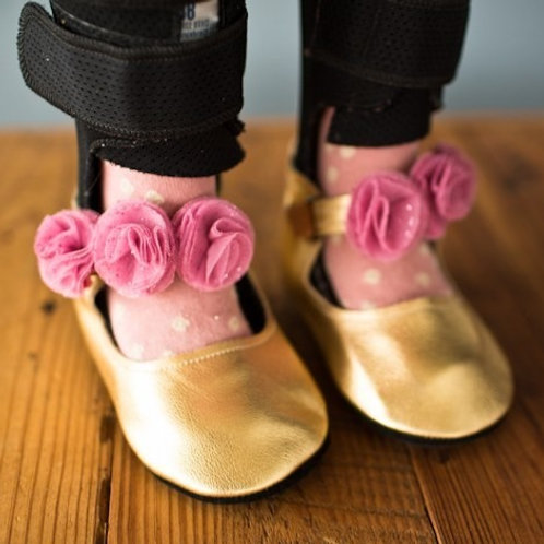 Super-Sparkle Mary Janes by Shoes for AFO's by Gracious May