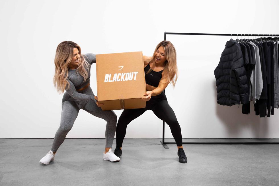 Gymshark_BlackOut_FLEX LS CROP - LEGGING