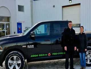Community Tadbitz: Eagle River Chrysler truck ensures Community Lunch Box Bottle Program drives on