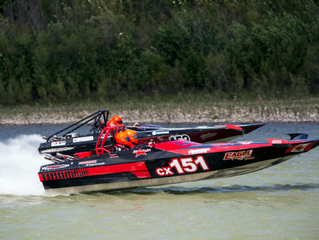 Roaring thunder: Jet boats take to the river