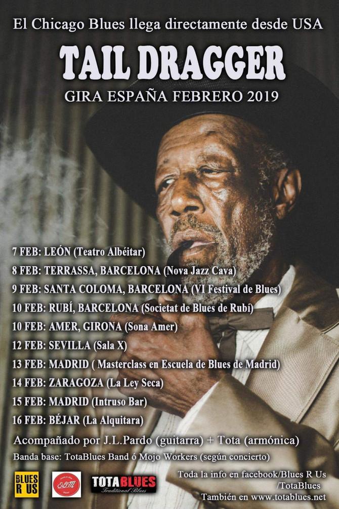 Gira de Tail Dragger por España