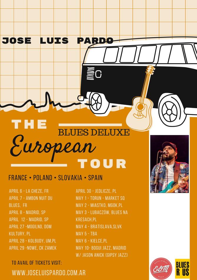José Luis Pardo Blues Deluxe European Tour